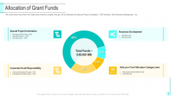 Funding Deck To Obtain Grant Facilities From Public Companies Allocation Of Grant Funds Designs PDF