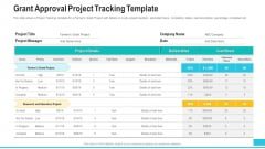 Funding Deck To Procure Funds From Public Enterprises Grant Approval Project Tracking Template Background PDF