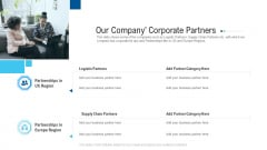 Funding Deck To Raise Grant Funds From Public Organizations Our Company Corporate Partners Formats PDF
