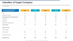 Funding Document Management Presentation Valuation Of Target Company Themes PDF