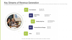 Funding Pitch Deck To Obtain Long Term Debt From Banks Key Streams Of Revenue Generation Pictures PDF