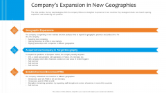 Funding Pitch To Raise Funds From PE Companys Expansion In New Geographies Topics PDF