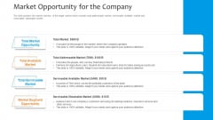 Funding Pitch To Raise Funds From PE Market Opportunity For The Company Portrait PDF