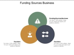 Funding Sources Business Ppt PowerPoint Presentation Infographic Template Graphics Example Cpb