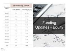 Funding Updates Equity Ppt PowerPoint Presentation Ideas Diagrams