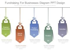 Fundraising For Businesses Diagram Ppt Design