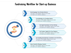 Fundraising Workflow For Start Up Business Ppt PowerPoint Presentation Tips PDF