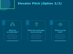 Funds For Startups Elevator Pitch Ppt File Example PDF