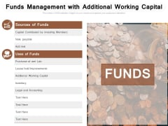 Funds Management With Additional Working Capital Ppt PowerPoint Presentation Professional Backgrounds PDF