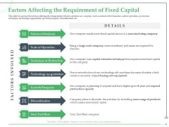 Funds Requisite Evaluation Factors Affecting The Requirement Of Fixed Capital Microsoft PDF