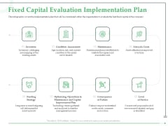 Funds Requisite Evaluation Fixed Capital Evaluation Implementation Plan Information PDF