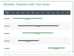 Funds Requisite Evaluation Monthly Timeline With Task Name Themes PDF