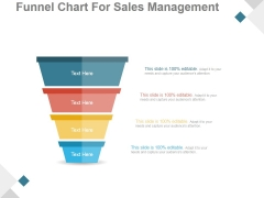 Funnel Chart For Sales Management Ppt PowerPoint Presentation Styles