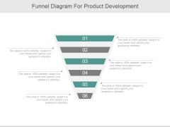 Funnel Diagram For Product Development Ppt PowerPoint Presentation Design Ideas