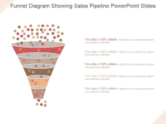Funnel Diagram Showing Sales Pipeline Ppt PowerPoint Presentation Guidelines