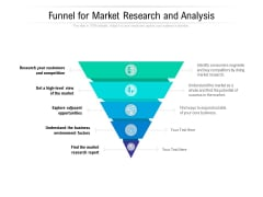 Funnel For Market Research And Analysis Ppt PowerPoint Presentation Show Gallery PDF