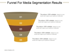 Funnel For Media Segmentation Results Ppt PowerPoint Presentation Microsoft