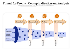 Funnel For Product Conceptualization And Analysis Ppt PowerPoint Presentation Shapes PDF