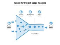 Funnel For Project Scope Analysis Ppt PowerPoint Presentation Summary Introduction PDF