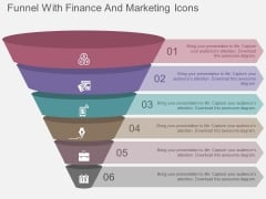 Funnel With Finance And Marketing Icons Powerpoint Templates
