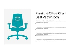 Furniture Office Chair Seat Vector Icon Ppt Powerpoint Presentation Professional Skills
