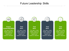 Future Leadership Skills Ppt PowerPoint Presentation Infographic Template Master Slide Cpb