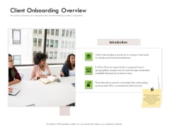 Future Of Customer Onboarding In Banks Client Onboarding Overview Ppt Infographics Tips PDF