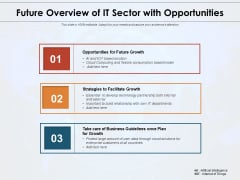 Future Overview Of IT Sector With Opportunities Ppt PowerPoint Presentation Outline Portfolio PDF