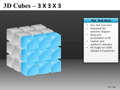 Face Of 3d Cube PowerPoint Slide