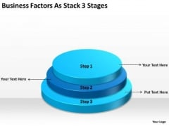 Factors As Stack 3 Stages Ppt How Write Business Plan Template PowerPoint Slides