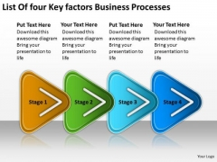 Factors Business PowerPoint Theme Processes Technical Support Flow Chart Slides