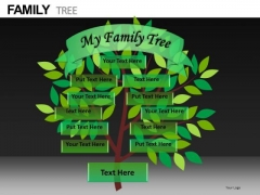 Family Tree Editable Graphics PowerPoint Slides