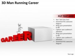 Famous Business People 3d Man Running Career PowerPoint Templates Ppt Backgrounds For Slides