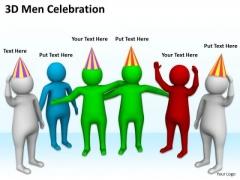 Famous Business People 3d Men Celebration PowerPoint Slides