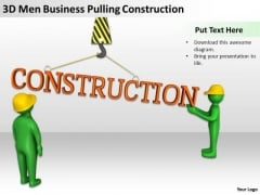 Famous Business People PowerPoint Templates Free Download Pulling Construction Slides