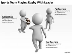 Famous Business People Sports Team Playing Rugby With Leader PowerPoint Templates