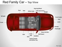 Fast Red Family Car PowerPoint Slides And Ppt Diagram Templates