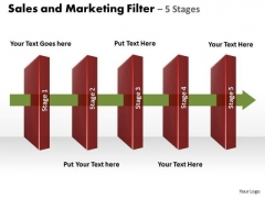 Filter Process 5 Stages Editable PowerPoint Slides Templates