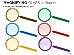 Finance Magnifying Glass On Report PowerPoint Slides And Ppt Diagram Templates
