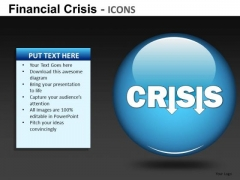 Financial Crisis Icons Ppt 21