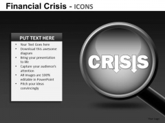 Financial Crisis Icons Ppt 22