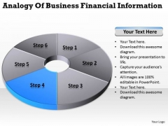 Financial Information Pie Donut Diagram 6 Stages How To Business Plan PowerPoint Slides