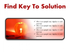Find Key To Solution Business PowerPoint Presentation Slides R