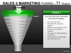 First Stage Conversion Funnel Diagrams PowerPoint