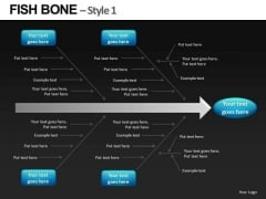 Fishbone Diagrams For Root Cause Analysis PowerPoint Slides Editable Ppt Templates