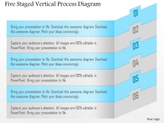 Five Staged Vertical Process Diagram Presentation Template