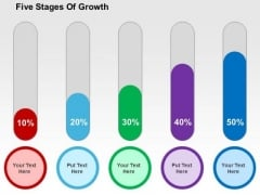 Five Stages Of Growth PowerPoint Template