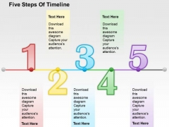 Five Steps Of Timeline PowerPoint Template
