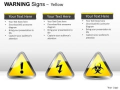 Flammable Materials Warning Signs PowerPoint Slides And Ppt Diagram Templates