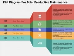 Flat Diagram For Total Productive Maintenance PowerPoint Templates